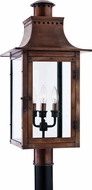 Quoizel CM9012AC Chalmers 26 Inch Tall Traditional Copper Exterior Lantern Post Mounted Landscape Lighting