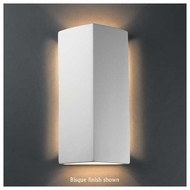 Justice Design 5145 Ambiance Peaked ADA Rectangle Wall Sconce