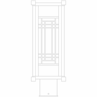 Arroyo Craftsman SDP6 Scottsdale Craftsman 6  Outdoor Post Light