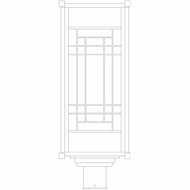 Arroyo Craftsman SDP10 Scottsdale Craftsman 10  Outdoor Post Light