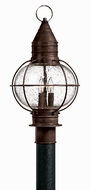 Hinkley 2207SZ Cape Cod 3 Light 21 Inch Outdoor Nautical Post Light in Sienna Bronze
