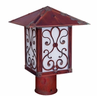 Arroyo Craftsman TRP-12AS Timber Ridge 12 inch Outdoor Light Post with Ashbury Filigree