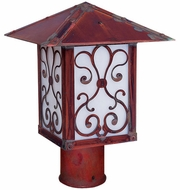 Arroyo Craftsman TRP-16AS Timber Ridge 16 inch Outdoor Light Post with Ashbury Filigree