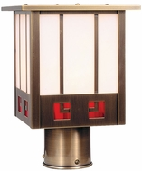 Arroyo Craftsman SSP-8 State Street Craftsman Outdoor Light Post - 7.5 inches wide