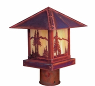 Arroyo Craftsman TRP-12MN Timber Ridge 12 inch Outdoor Light Post with Mountain Filigree