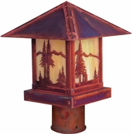 Arroyo Craftsman TRP-16MN Timber Ridge 16 inch Outdoor Light Post with Mountain Filigree