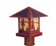 Arroyo Craftsman TRP-9MN Timber Ridge 9 inch Outdoor Light Post with Mountain Filigree