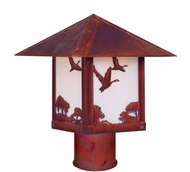 Arroyo Craftsman TRP-12GS Timber Ridge 12 inch Outdoor Light Post with Goose Filigree