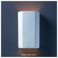 Justice Design 5505 Ambiance ADA Cylinder Wall Sconce, Open Top
