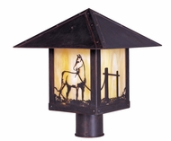 Arroyo Craftsman TRP-12HS Timber Ridge 12 inch Outdoor Light Post with Horse Filigree
