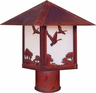 Arroyo Craftsman TRP-16GS Timber Ridge 16 inch Outdoor Light Post with Goose Filigree