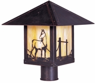 Arroyo Craftsman TRP-16HS Timber Ridge 16 inch Outdoor Light Post with Horse Filigree