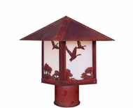 Arroyo Craftsman TRP-9GS Timber Ridge 9 inch Outdoor Light Post with Goose Filigree