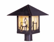 Arroyo Craftsman TRP-9HS Timber Ridge 9 inch Outdoor Light Post with Horse Filigree