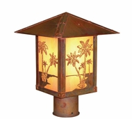Arroyo Craftsman TRP-9PT Timber Ridge 9 inch Outdoor Light Post with Palm Tree Filigree