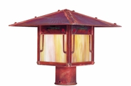 Arroyo Craftsman PDP-12GRC Pagoda Asian Outdoor Light Post - 12 inches wide