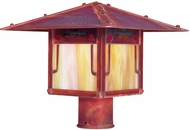 Arroyo Craftsman PDP-17GRC Pagoda Asian Outdoor Light Post - 17 inches wide