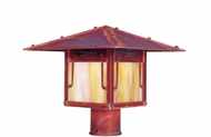 Arroyo Craftsman PDP-9GRC Pagoda Asian Outdoor Light Post - 9 inches wide