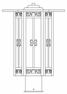 Arroyo Craftsman LIP-11 Lily Craftsman Outdoor Light Post - 11 inches wide