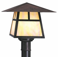Arroyo Craftsman CP-15 Carmel Craftsman Outdoor Post Light - 11.375 inches tall