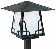 Arroyo Craftsman CSP-8 Carmel Craftsman Outdoor Post Light - 17.625 inches tall