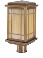 Arroyo Craftsman AVP-8 Avenue Craftsman Outdoor Light Post - 12.75 inches tall