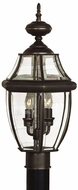 Quoizel NY9045Z Newbury outdoor post light in medici bronze