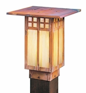 Arroyo Craftsman GPC-9 Glasgow Craftsman Outdoor Light Post - 9 inches tall