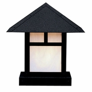 Arroyo Craftsman EC-12 Evergreen Craftsman Outdoor Pier Mount Light - 12 inches wide