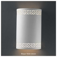 Justice Design 7805 Ambiance Small Cylinder w/ Floral Band Wall Sconce
