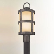 Troy PF3316 Barbosa Bronze Finish Nautical 8 Inch Diameter Outdoor Post Mounted Fluorescent Light Fixture