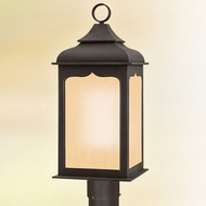 Troy PF2016ci Henry Street Fluorescent Outdoor 27 Inch Tall Post Light - Colonial Iron