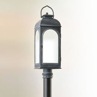 Troy PF3285 Derby Fluorescent Antique Iron Finsih 26 Inch Tall Lamp Post Lighting