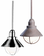 Kichler 2621 Seaside 9.75 Inch Tall Outdoor Mini Pendant Ceiling Light