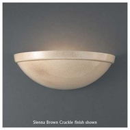 Justice Design 2050 Ambiance Rimmed Quarter Sphere Wall Sconce