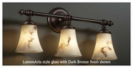 Justice Design 852320 Tradition 3-Light Vanity Light with Round Flared Glass
