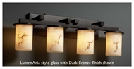 Justice Design 8774-10 Dakota 4-Light Straight-Bar Vanity Light with Flat Rim Glass