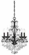 Quoizel QMC1199FR Carrabelle Transitional Glass Mini Chandelier with 5 Lights