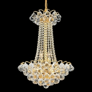 Elegant 2001D16G-RC Godiva Small Gold Crystal Dining Chandelier