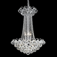 Elegant 2001D16C-RC Godiva Small Chrome 9 Light Crystal Chandelier