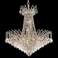 Elegant 8033D24C-RC Victoria Chrome Dining Chandelier with Crystal