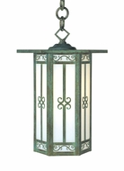 Arroyo Craftsman LIH-9 Lily Craftsman Outdoor Hanging Pendant Light - 8.5 inches wide