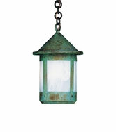 Arroyo Craftsman BH-6S Berkeley Outdoor Chain Hung Pendant Light - 8 inches tall