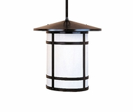 Arroyo Craftsman BSH-11L Berkeley Craftsman Indoor/Outdoor Rod Hung Pendant Light - 11.25 inches tall