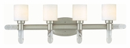 Lite Source LS16864SSFRO Glamis Transitional 28 Inch Wide Bathroom Vanity Light Fixture - 4 Lamps