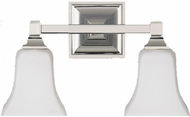 Feiss VS12402PN American Foursquare 2 Light Opal and Nickel Bath Wall Lighting Fixture