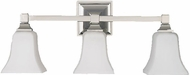 Feiss VS12403PN American Foursquare 3 Light Opal and Nickel Vanity Wall Lighting Fixture