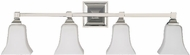Feiss VS12404PN American Foursquare 4 Light Opal and Nickel Wall Sconce Lighting Fixture