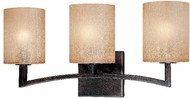 Troy B1733-ABZ Austin 3 Light Wrought Iron Wall / Vanity Fixture