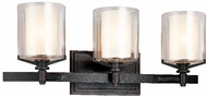 Troy B1713-FR Arcadia 3 Light French Iron Vanity Fixture